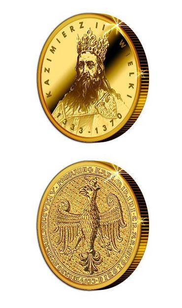 Numizmat. 650. rocznica śmierci króla Kazmierza Wielkiego
